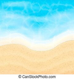 Summer vacation background. Topical sea and beach. EPS10 ...