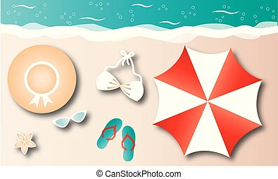 summer vacation beach holiday header or banner