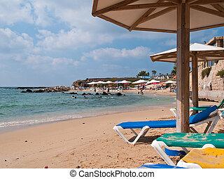 Summer vacation beach resort