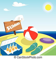 Summer Vacation Board Beach Seaside Holiday