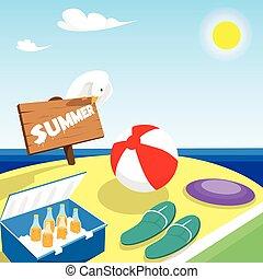 Summer Vacation Board Beach Seaside Holiday