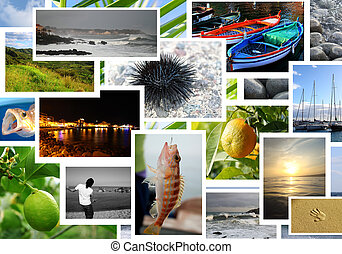 Summer vacation collage