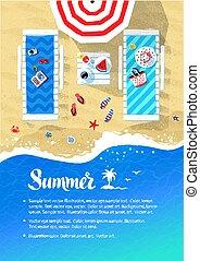 Summer vacation flyer design