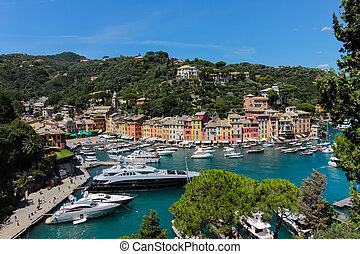 Portofino village, Ligurian Coast, Italy - Summer vacation ...