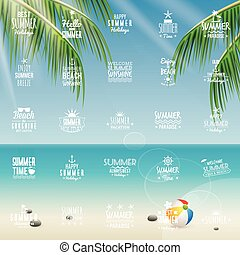 Summer Vacation labels