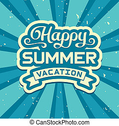 Summer vacation poster