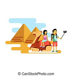 Summer vacation poster vector illustration. Couple resting...