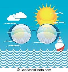Summer vacation seaside image