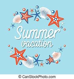 Summer Vacation Seaside Trip Sea Shell Tropical