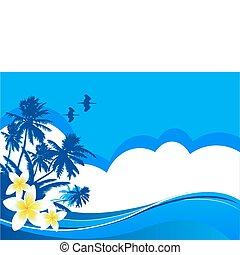 Summer vacation - Summer themed beach illustration ...