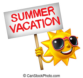 Summer Vacation - Summer vacation symbol as a hot sun...