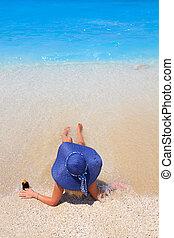 Summer vacation woman on beach