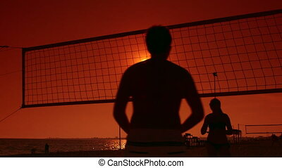 Summer vacations activity beach volleyball