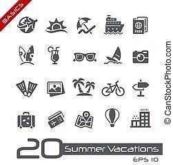 Summer Vacations Icons // Basics