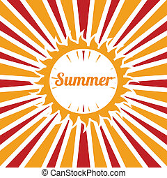 summer vacations over grunge background vector illustration
