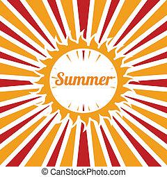 summer vacations over grunge background vector illustration