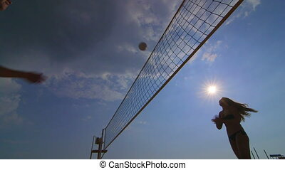 Summer vacations recreation beach volleyball