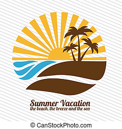 summer vacations - summer vacation over lineal background ...