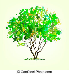 Summer  vector tree of blots background