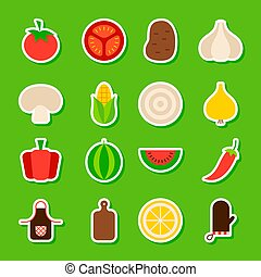 Summer Vegetables Stickers