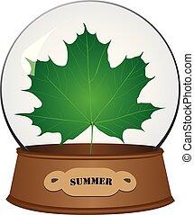 Summer version of maple leaf