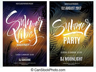 Summer Vibes Beach Party posters