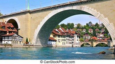 Summer view of Bern, Switzerland - Scenic summer view of the...