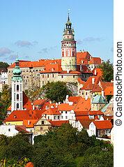 Cesky Krumlov - Summer view of Cesky Krumlov. Czech republic