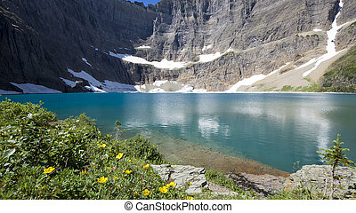 Summer View of Iceberg Lake, Montana