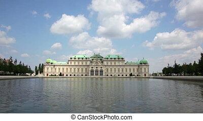 Summer view of Upper Belvedere in Vienna, Austria - Scenic...