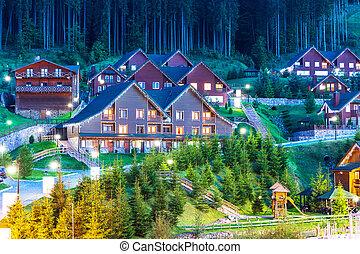 Summer view of winter ski resort Bukovel, Ukraine - Scenic ...