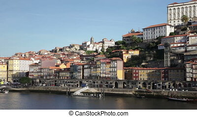 Summer view on Porto, Portugal - Embankment of Porto in...