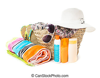 Summer voyage concept - accessories for beach vocations...