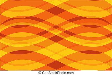 Summer waves - Retro style background