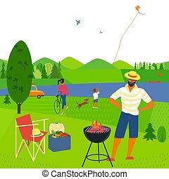 Summer weekend picnic