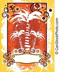 Summer with palms. Vector background