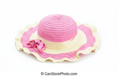 summer woman hat isolated on white background