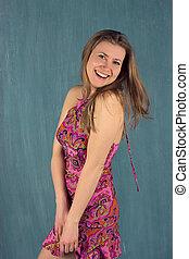 Summer woman in dress