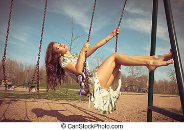 summer woman leisure