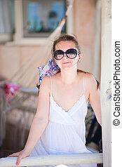 Summer woman portrait