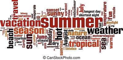 Summer word cloud concept. Vector illustration