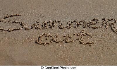 Summer word on sand seacoast - a Summer word on sand...