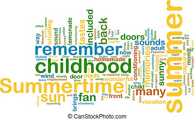 Summer wordcloud - Word cloud concept illustration of summer...