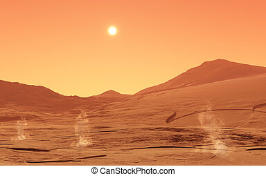 Summerday from Mars - This image shows a summerday from mars...