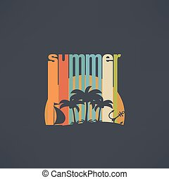 summerferie, grunge, bakgrund