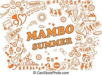 summerferier, olika, mambo, attributes, style.
