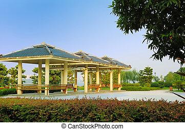 Summerhouse in park