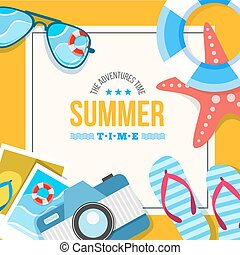 summertime background card