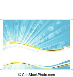 Simple, elegant, and sunny summertime banner. Graphics are grouped and in several layers for easy editing. The file can be scaled to any size.
