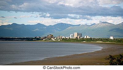 Summertime Bootleggers Cove Anchorage Alaska United States...